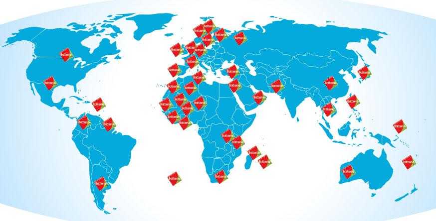 Plus de 20 distributeur de régénération de batterie dans le monde.