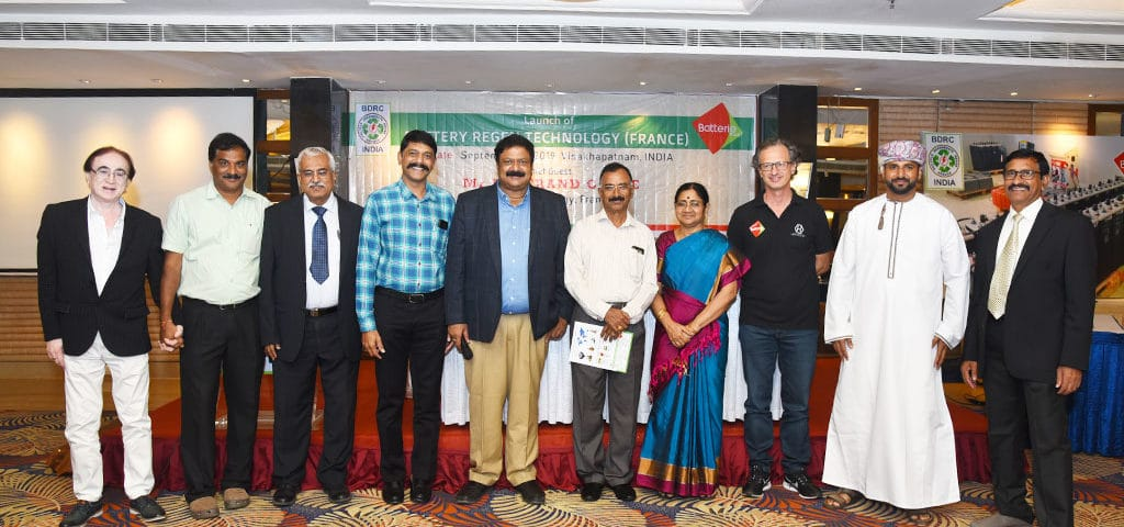 Inauguration India batteries regeneration centers