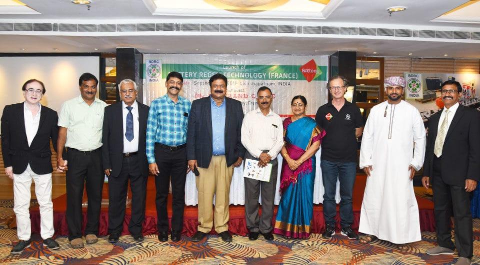 Inauguration India batteries regeneration centers