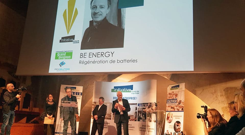 Audacity Prize awarded by Initiative Terres de Vaucluse Battery Regenration